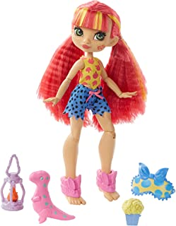Cave Club Cavetastic Sleepover Emberly Doll, 8 – 10-inch, Poseable Doll with Pink Hair and 3 Accessories, Gift for 4 Year ...