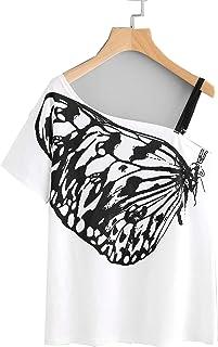 Verochic Strap tee Butterfly print pattern woman