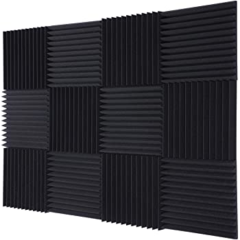 """TRUE NORTH Acoustic Foam Panels 12 Pack (1"""" or 2"""" Thick) – Acoustic Panels, Sound Proof Foam Panels, Sound Proof Padding, Studio Foam, Soundproof Foam, Sound Foam, Sound Panels, Studio Equipment"""