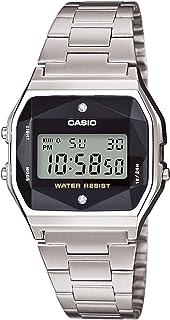 Casio A158wead-1ef) - Reloj multifunción con correa de acero plateado Casio Vintage