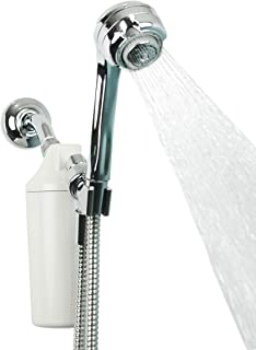 Aquasana Shower Water Filter System w/ Handheld Massaging - Filters Over 90% Of Chlorine - NSF Certified Carbon & KDF Filtration Media - PH Enhancement - 6 Month, 10,000 Gallons - Chrome - AQ-4105CHR
