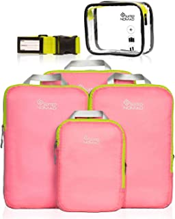 SUITEDNOMAD Compression Packing Cubes Set,Ultralight Travel Organizer Bags