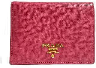 Prada Portafoglio Verticale Fuxia Geranio Vitello Move Leather Flap Wallet 1MV204