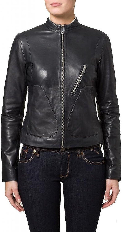 100% New Genuine Leather Lambskin Women Biker Motorcycle Jacket Ladies LTN288