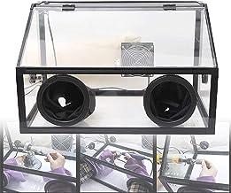 Sierra de mesa portátil de sobremesa, Máquina de pulido eléctrico a prueba de polvo a prueba de polvo Caja a prueba de polvo, con luz LED, ventilador, Piscina de circulación de agua Cubierta de acríli