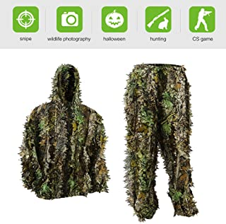 Pellor Ghillie Suits, 3D Leafy Ghille Suit for Youth...