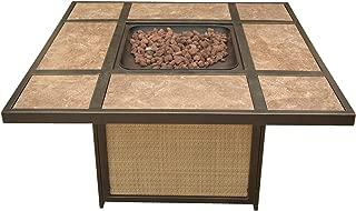 Cambridge ARTISTILE1PCFP Artisan Tile-Top LP Gas Fire Pit Outdoor Furniture, Tan