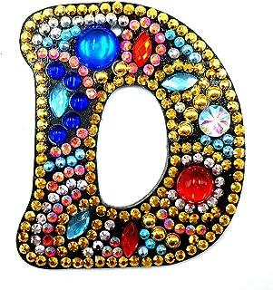 Bricolage Mandala Fleur Porte-cl/é r/ésine Strass Broderie Pendentif pour la d/écoration Murale de la Maison HEEPDD Kits de Peinture au Diamant