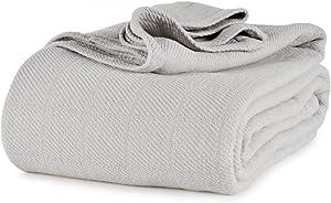 Berkshire AllSoft Cotton Blanket (King, Light Grey)