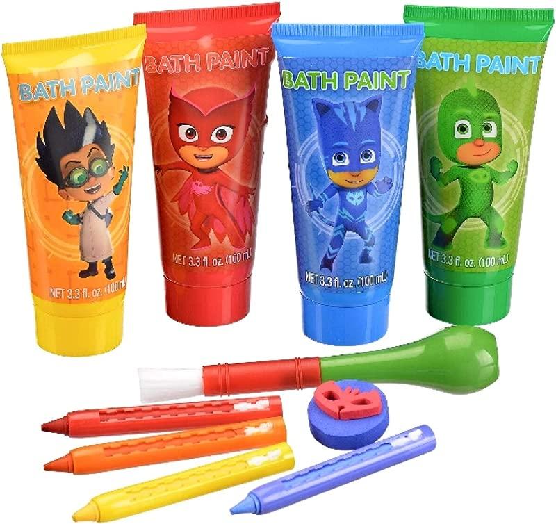 Bath Time PJ Masks Artistic Activity Set With Paints Crayons Stamper Palett Brush