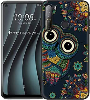 FZZ Case for HTC Desire 20 Pro,Soft Anti-Scratch Black Protective Shell Silicone Flexible TPU Phone Case Protection Cover ...