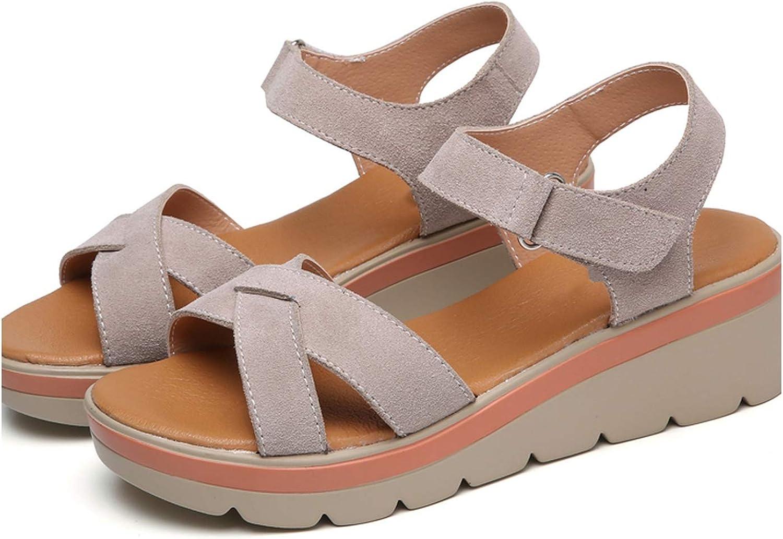 Summer Ladies shoes High Heel Anti Skidding Beach shoes Peep-Toe Casual Walking Sandalias