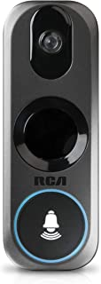 Doorbell Video Ring Security Camera by RCA New and Improved - with Mobile Doorbell Ring, 3MP HD Video, Live Stream, No Recording Storage Fees, Night Vision and Motion Detection