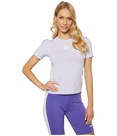 PUMA Classics Tight Top (Purple Heather) Women