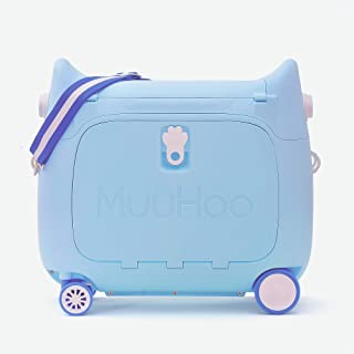Kids Travel Partner Ride-On Suitcase and Carry-On Luggage, Classic Rolling Luggage (Sky Blue)