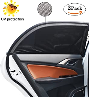 2 Pcs Universal Car Side Window Shade, ieGeek Car Sun Shade Protect Baby/Pet from UV Rays, Premium Breathable Mesh Sun Shi...