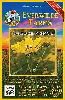 Everwilde Farms - 100 Tall Swamp Marigold Native Wildflower Seeds - Gold Vault Jumbo Seed Packet