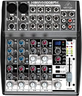 Behringer 1002FX Bus Mixer with XENYX Mic Preamps - Black
