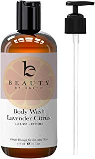 Lavender Citrus Body Wash - Made with Organic Ingredients, Body Wash Sensitive Skin, All Natural Body Wash,...