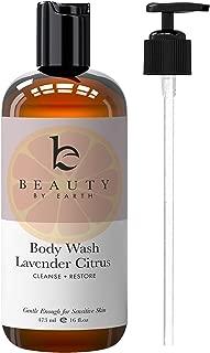 Lavender Citrus Body Wash - Organic Body Wash Sensitive Skin, All Natural Body Wash, Shower Gel For Women, Womens Body Wash Pump, Sensitive Skin Body Wash Organic For Men, Women & Kids (1)