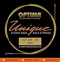 Optima 2409SL UNIQUE Studio Bass GOLD Strings, Super Long Scale