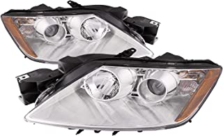 PERDE Chrome Housing Halogen Projector Headlights Compatible with Mazda CX-7 2007-2011 Includes Left Driver and Right Passenger Side Headlamps