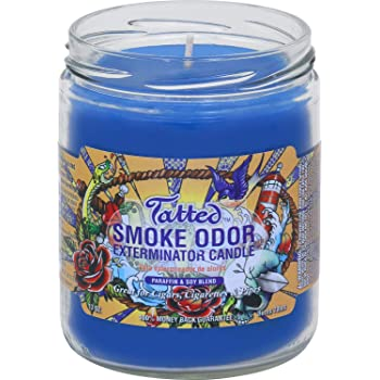Smoke Odor Exterminator 13oz Jar Candle, Tatted, Pack of 2