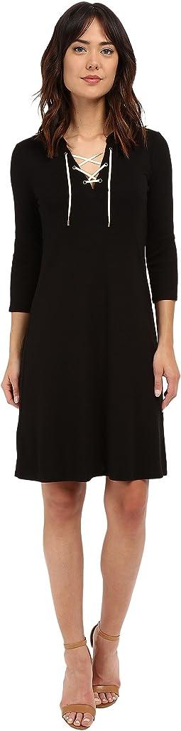 Elna Lace-Up Hi Low Dress