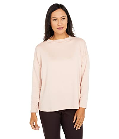 Eileen Fisher Funnel Neck Box Top (Blush) Women