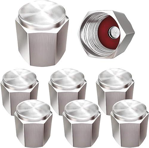 Plata Hexagonal tapones de polvo metálico de metal de alta calidad-paquete de 4 Caps