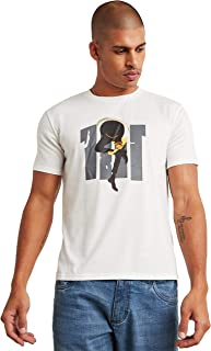 Printed Round Neck T-shirt with Short Sleeves 50284736 SunBurn by Styli