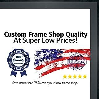 Poster Palooza 3x5 Contemporary Black Wood Shadow Box Frame - UV Acrylic, Acid Free Backing, Hanging Hardware Included!