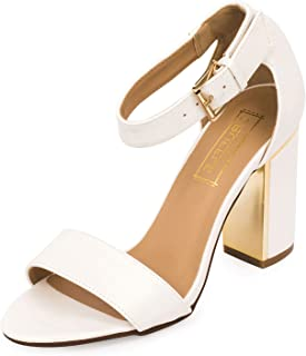 TRUFFLE COLLECTION Women's White Synthetic Fashion Sandals