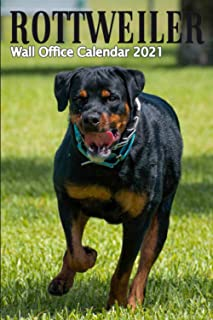 Rottweiler Wall Office Calendar 2021: With Planner for 24 Month Gift, 5in1 (Calendar, Monthly Planner, To Do List, Lines f...