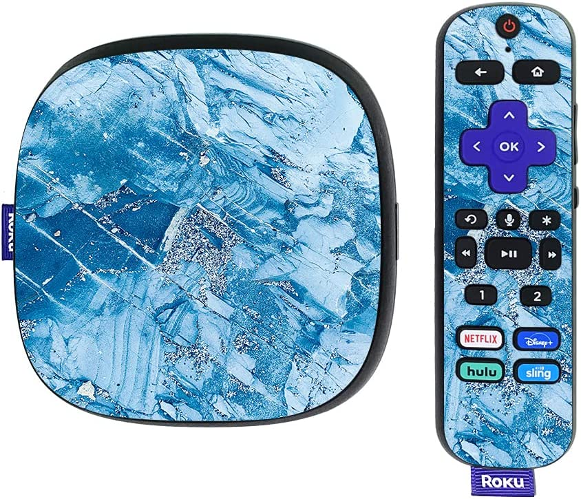 MightySkins Skin Compatible with Roku Ultra HDR 4K Streaming Media Player (2020) - Winter Rock | Protective, Durable, and Unique Vinyl Decal wrap Cover | Easy to Apply | Made in The USA