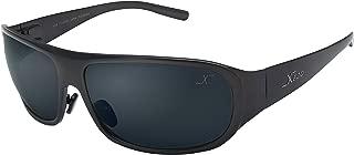 Xezo UV 400 Curve 8 Solid Titanium Polarized Sunglasses