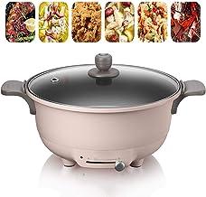 Casserole électrique 5L Multifonctions électrique Sauteuse Sauteuse 1350w Hot Pot Poêle Frire Cuiseur Riz Pot Soupe Poêle ...