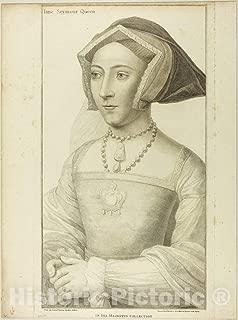 Historic Pictoric Print : Queen Jane Seymour, Francesco Bartolozzi, c 1793, Vintage Wall Decor : 36in x 48in