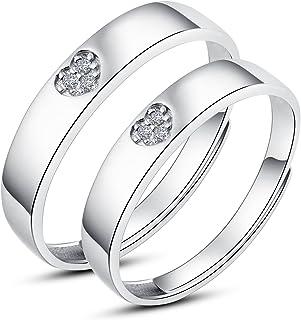 宝石1号 925银 银戒指 开口戒指 情侣对戒 可调节(碎钻/心形/简约/箭形/排钻 5种款式可选)