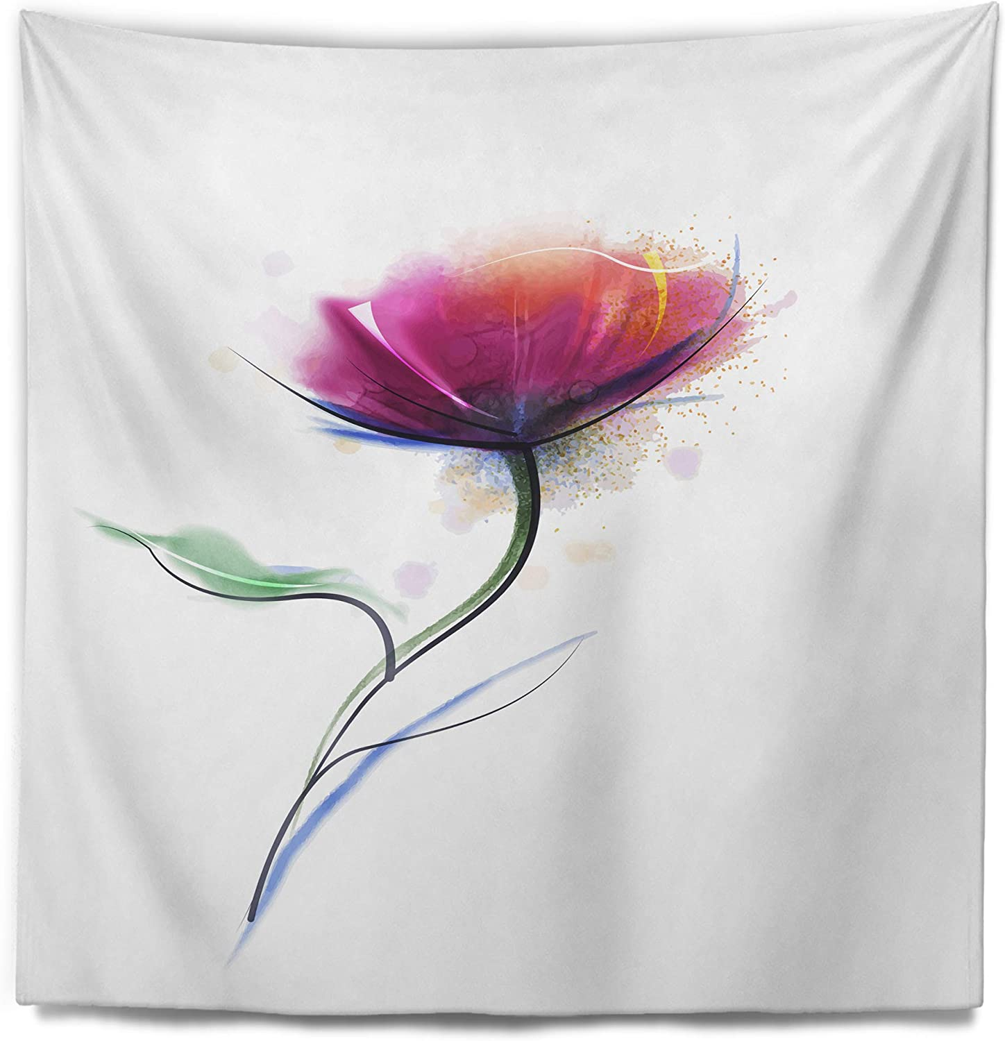 Designart 'Vector Watercolor Super sale period limited Design' Tapestry Déc Floral Blanket Milwaukee Mall