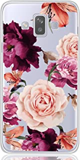 BAISRKE Galaxy J7 Duo Case, Galaxy J7 Duo Case with Flowers Slim Shockproof Clear Floral Pattern Soft Flexible TPU Back Co...