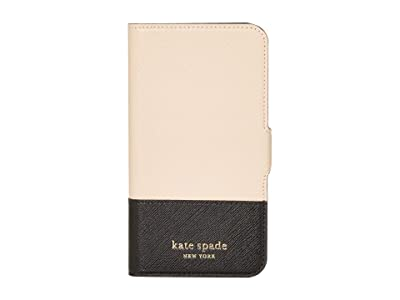 Kate Spade New York Spencer Magnetic Folio for iPhone(r) 11 Pro (Warm Beige/Black) Cell Phone Case