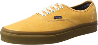 UA Authentic Low-Top Sneakers, Yellow ((Washed Canvas) Citrus/Gum)
