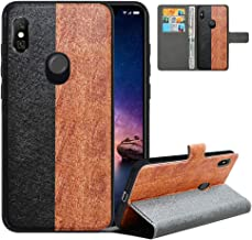 LFDZ Compatible with Redmi Note 6 Pro Case,PU Leather Redmi Note 6 Wallet Case with [RFID Blocking],2 in 1 Magnetic Detachable Flip Slim Cover Case for Xiaomi Redmi Note 6/Note 6 Pro,Black/Brown
