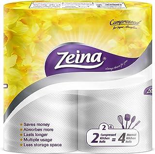 Zeina Kitchen Compressed Tissue 2 Rolls Yellow