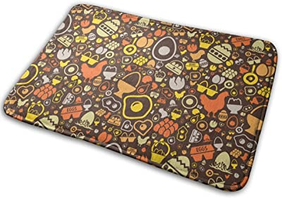 Funny Egg Carpet Non-Slip Welcome Front Doormat Entryway Carpet Washable Outdoor Indoor Mat Room Rug 15.7 X 23.6 inch