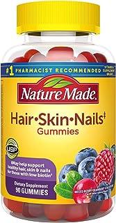 Nature Made Hair, Skin & Nails 2500 mcg Biotin Gummies with Vitamin C, 90 Count
