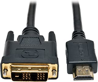Tripp Lite HDMI to DVI Cable, Digital Monitor Adapter Cable (HDMI to DVI-D M/M) 3-ft.(P566-003),Black