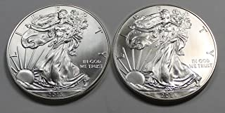 2013 P American Silver Eagle Lot of (2) Two D-090 Gem BU