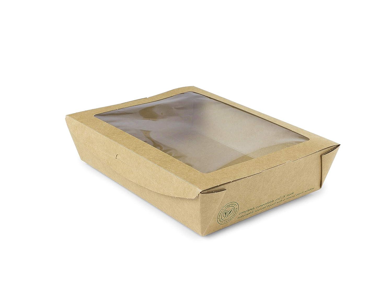 Vegware 01/vwpasta Medium Fenster Salat Box 22/Oz 300/St/ück